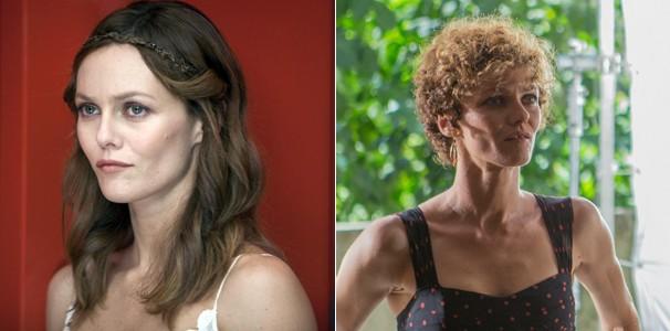 Vanessa em 'Como Arrasar um Coração' (2010) e mais recentemente em 'Rio, Eu Te Amo' (2014) (Foto: Divulgação/Reprodução)