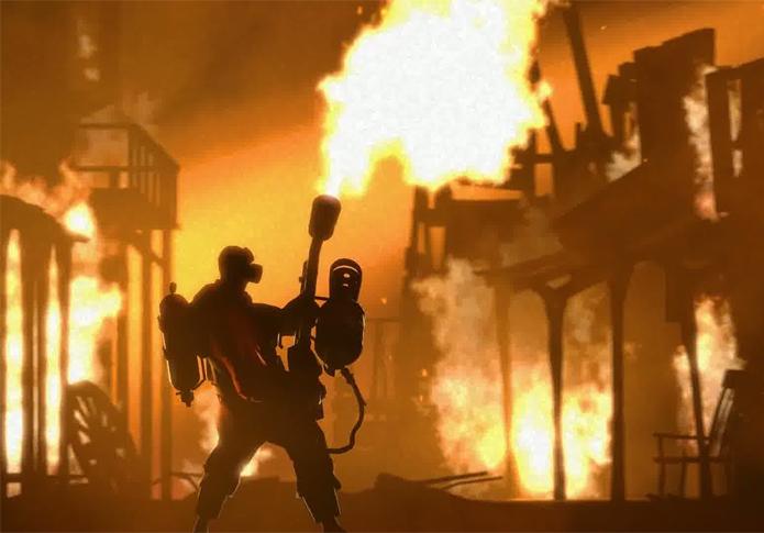 Personagem Pyro é um grande mistério de Team Fortress (Foto: Divulgação/Valve)