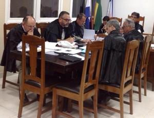 Julgamento do Conilon no TJD-ES (Foto: Sidney Magno Novo/GloboEsporte.com)