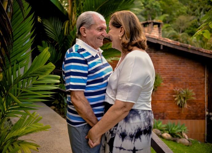 Ensaio fotográfico do senhor Silvério e dona Glorinha (Foto: Lucas Alves)