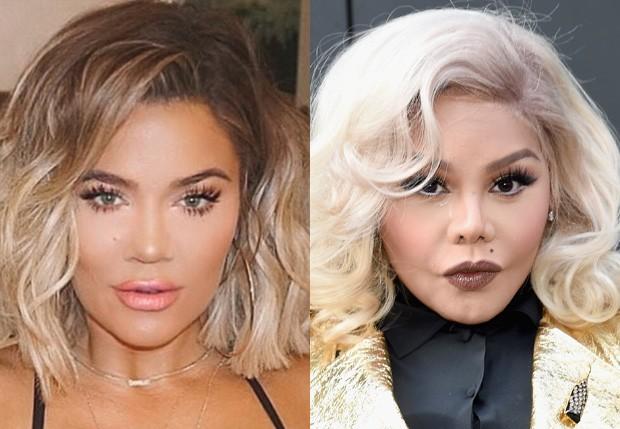 Khloé Kardashian foi comparada com Lil Kim (Foto: Reprodução e Getty Images)