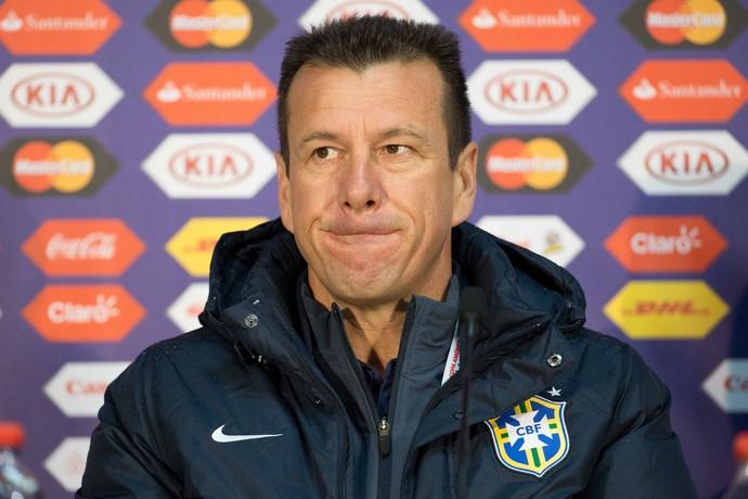 Dunga seleção brasileira coletiva Copa América Temuco (Foto: Agência Estado)