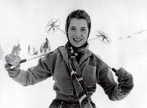 4   Eunice em sua lua de mel em Bariloche, em 1952 (Foto: Acervo da Família)