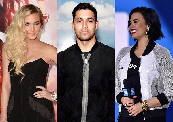 Ashlee Simpson, Wilmer Valderrama, Demi Lovato (Foto: Getty Images)