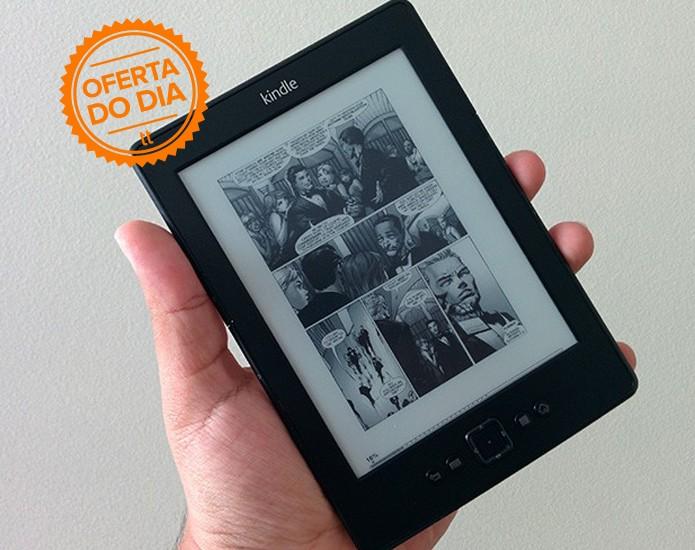 Amazon oferece desconto no Kindle: valor cai de R$ 299 para R$ 199. Promoção é válida apenas para esta segunda-feira (15) (Foto: Paulo Alves/TechTudo)