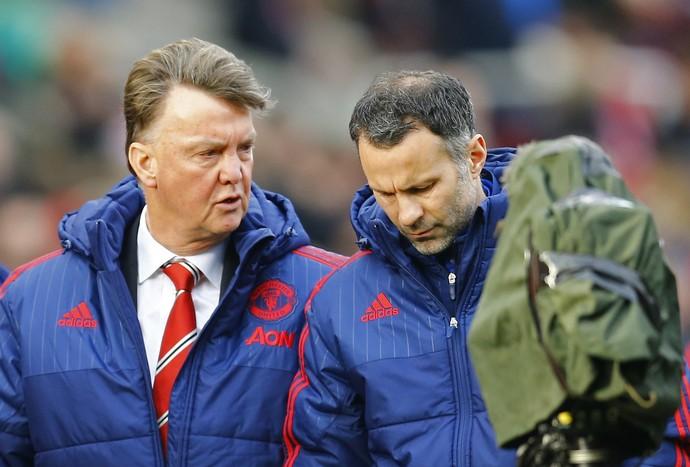 Van Gaal Giggs Manchester United x Stoke (Foto: Reuters)