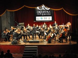 Orquestra Cidade de Joinville (Foto: Bruno Isidoro)