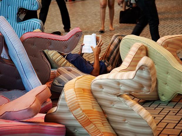 Exposição 'Enquanto falo, as horas passam'. (Foto: Mário Grisolli/Rafael Mósca)