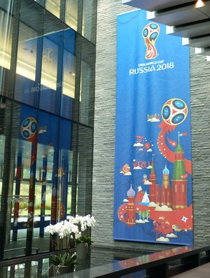 Painel Copa da Rússia na sede da Fifa