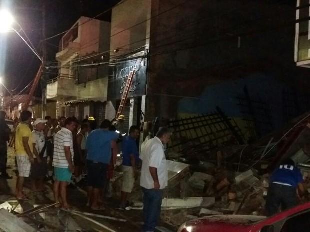 Cinco pessoas ficaram feridasdurante o desabamento (Foto: Jaelson Silva/Arquivo Pessoal)