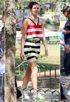 Camila Queiroz usa vestido de loja popular que custa R$ 329