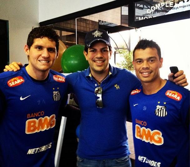 Rafael, Sorocaba e Bernardo no CT Rei Pelé (Foto: Reprodução / Instagram)