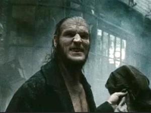 Dave Legeno como o vilão Fenrir Greyback de 'Harry Potter' (Foto: Divulgação)