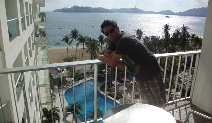 Felipe Camargo em Acapulco
