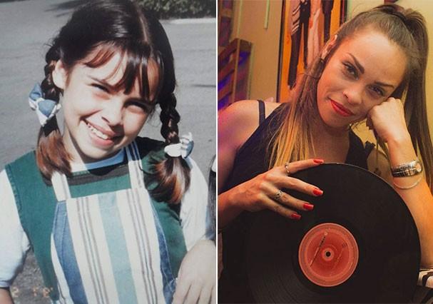 """Gisele Frade interpretava Bia em """"Chiquititas"""" (Foto: Reprodução/Instagram e Montagem/Glamour)"""