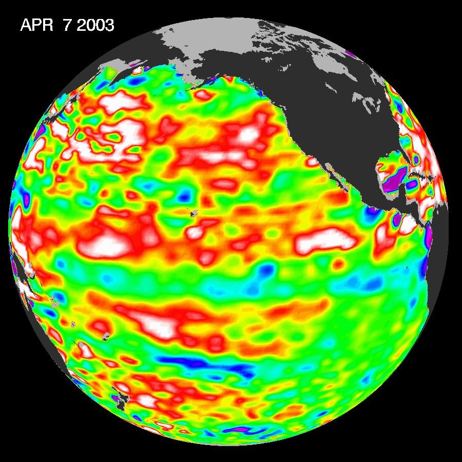Altas temperaturas durante El Niño em 2003 (Foto: NASA)