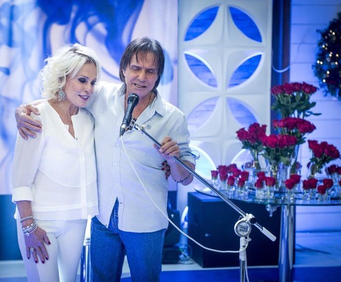Roberto Carlos participa de 'Mais Você' especial  (Foto: João Cotta/TV Globo)