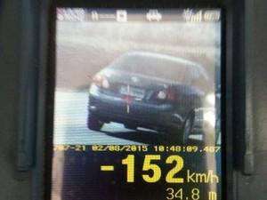 Limite de velocidade no local é de 80km/h (Foto: PRF/Divulgação)