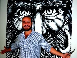 Artista quer chamar a atenção para histórias e olhares São Carlos (Foto: Orlando Duarte Neto/G1)