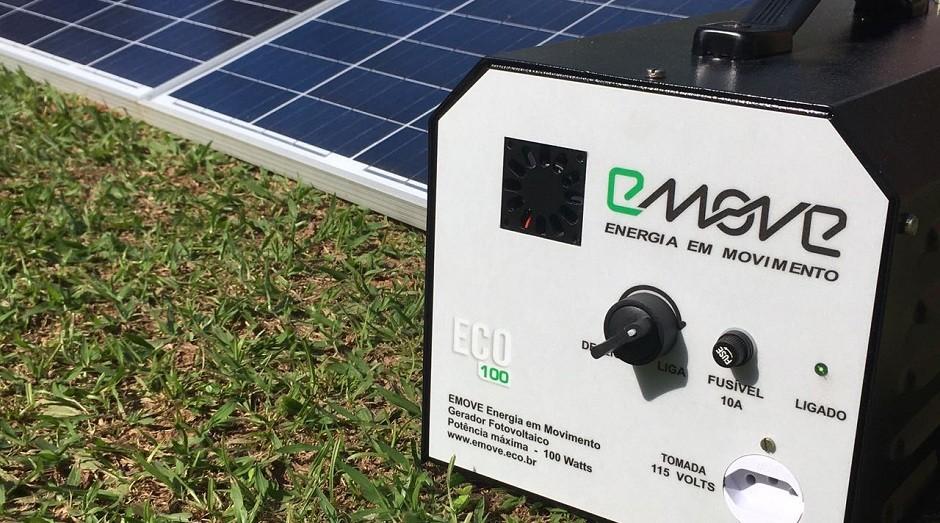emove, gerador de energia solar (Foto: Divulgação)