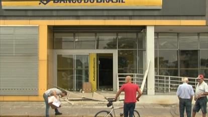 Mais um banco é assaltado na serra