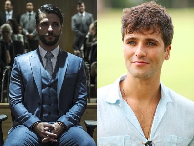 Compare! O ator na pele de Edu (à esq.) e como Murilo (à dir.)  (Foto:  Estevam Avellar/TV Globo/ Carol Caminha/Gshow)