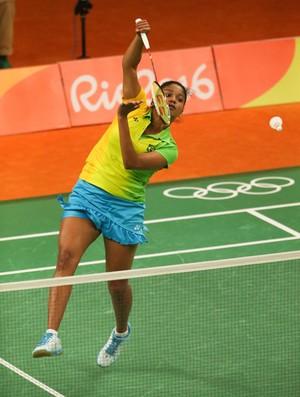 Lohaynny Vicente/Brasil 0 X 2 Marija Ulitina; badminton (Foto: Saulo Cruz/Exemplus/COB)