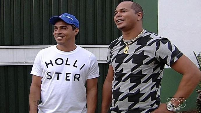 Alex Dias e Aloísio - Goiás (Foto: Reprodução / TV Anhanguera)