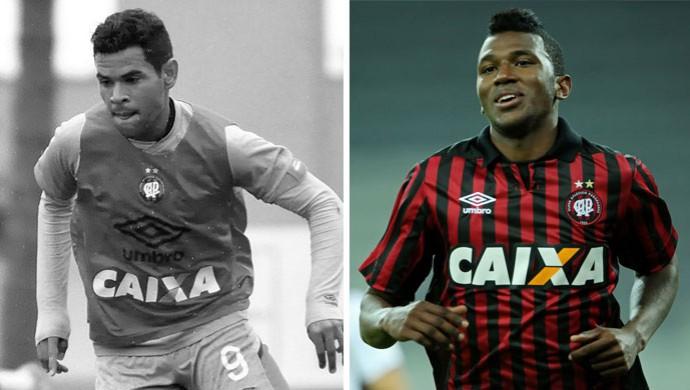 montagem atlético-PR Ederson e Douglas Coutinho (Foto: Arte / Globoesporte.com)