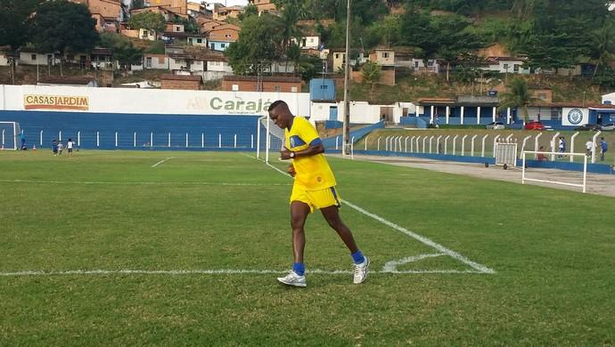 Marcelo Nicácio, atacante do CSA (Foto: Augusto Oliveira / GloboEsporte.com)