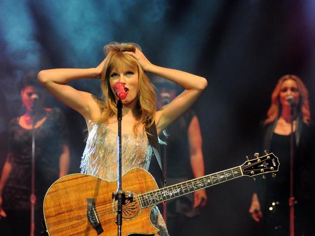 Taylor Swift prometeu voltar para um um show 'melhor e maior' (Foto: Alexandre Durão / G1)