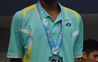 Pomoceno faz aniversário e leva prata de presente no Pan de Badminton