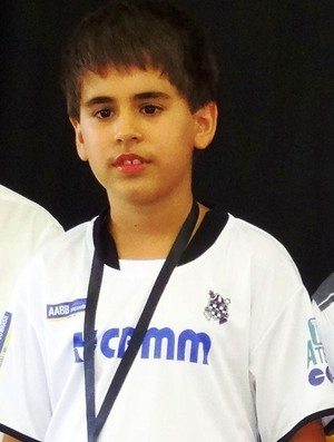 Vitor, enxadrista de Araxá durante Campeonato Brasileiro (Foto: Arquivo Pessoal)