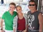 Angélica leva Michel Teló e Rodrigo Andrade para dia de pescaria