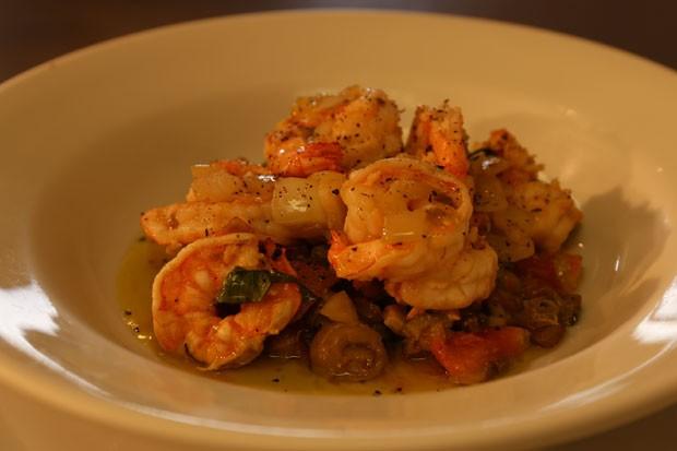 Caponata de camarão com lagostins (Foto: Divulgação)