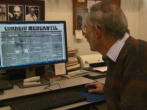 Professor da UFSCar encontrou crônicas de José de Alencar em São Carlos (Foto: Marlon Tavoni/EPTV)