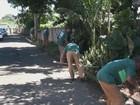 Presos do semiaberto fazem limpeza em ruas e áreas de São Carlos, SP