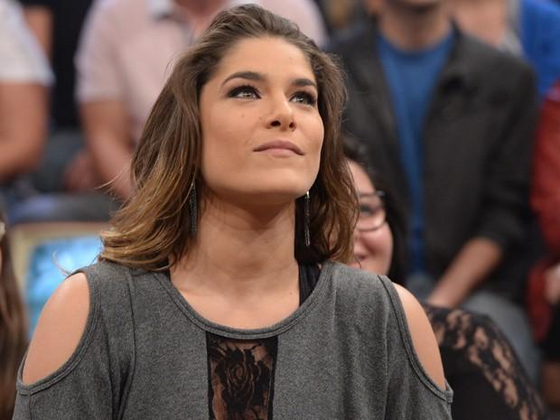Priscila Fantin em 2014 no programa Altas Horas de Serginho Groisman (Foto: Globo/Zé Paulo Cardeal)