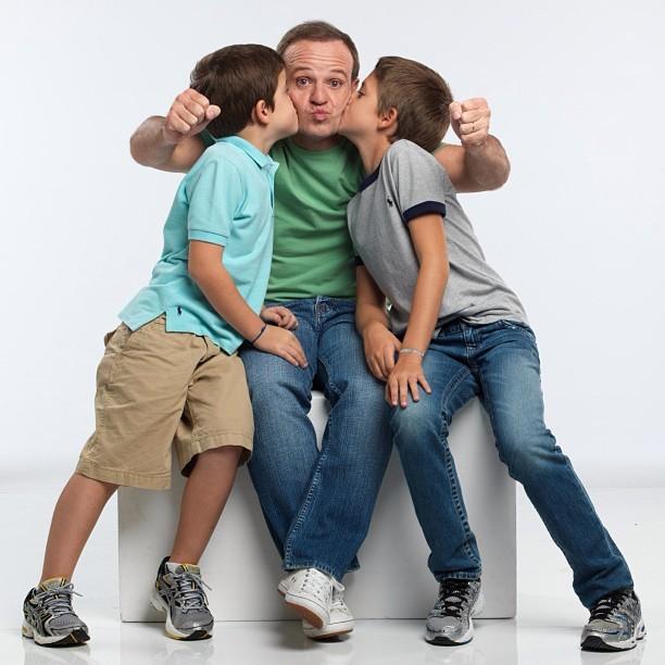 Rubinho Barichello com os filhos (Foto: Reprodução/Instagram)