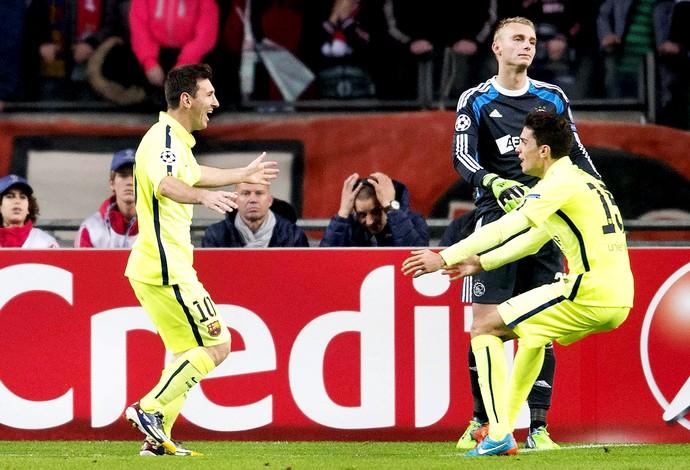 Ajax x Barcelona - Messi (Foto: Efeservicios)