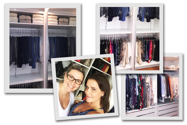 A personal organizer Carol Rosa otimizou o espaço do closet de Deborah Secco (Foto: Divulgação)
