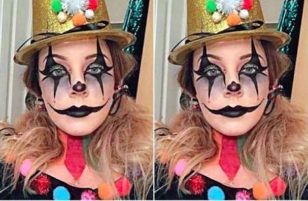 Mulher quase fica cega depois de maquiagem temática de Halloween (Foto: Daily Mail)