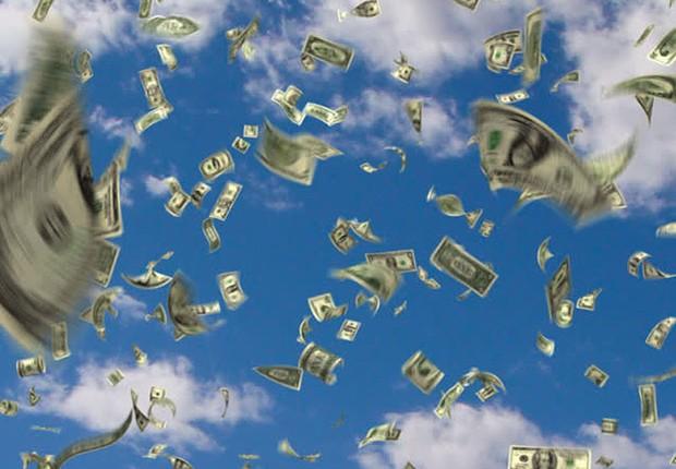 Chuva de dinheiro ; ficar rico ; dinheiro não cai do céu ; ficar milionário ; carreira ;  (Foto: Shutterstock)