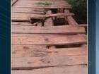 Ponte de madeira no interior do Tocantins oferece risco para usuários