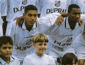 Rodrigão no Santos, em 1999 (Foto: Divulgação / Santos FC)