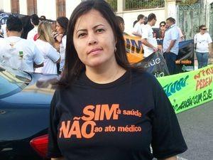 De acordo com a representante do Conselho Regional de Enfermagem, Grabryella Resende, os profissionais aprovam os vetos (Foto: Flávio Antunes/G1)