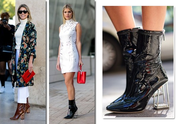 Helena Bordon e Lala Rudge com as botas de vinil da Christian Dior (Foto: Imaxtree)