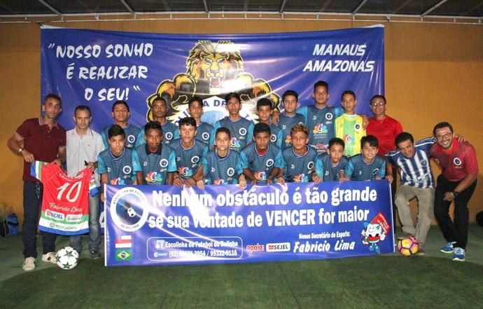 Escolinha Zona Norte de Manaus torneio em Roraima (Foto: Anderson Silva/Sejel)