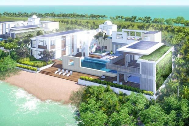 Resort será abastecido com energia sustentável, terá captação da água da chuva e controle do lixo trazido pelos hóspedes (Foto: Reprodução/Denniston International)