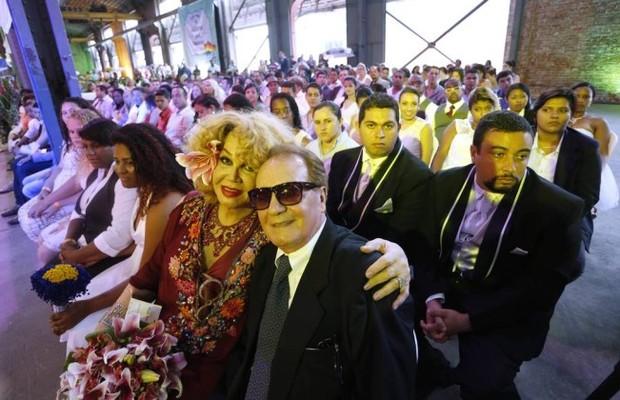 Jane di Castro e Otavio Bonfim - casamento civil depois de 47 anos de união (Foto: Ana Branco/Agência O Globo)